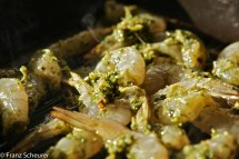 BBQed Coriander and Pepper Prawns