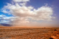 Dust storm between Flinders Ranges and Quorn