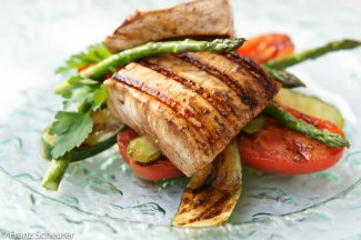 Balsamic Marinated Swordfish Steak with Seared Vegetables – 42 – 075/080