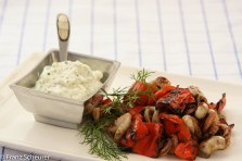 BBQued Chilli Octopus with Red Capsicum and Tzatziki
