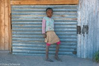 Girl in local village on the Okavango Delta