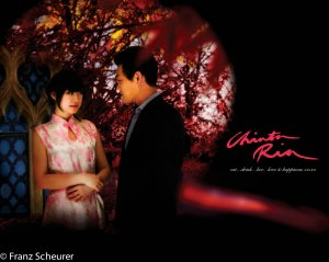 Re-creation of movie still from the movie IN THE MOOD FOR LOVE