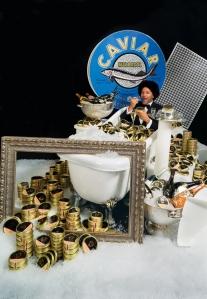 A lot of caviar...